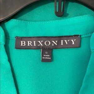 Brixon Ivy Tops - Brixon Ivy Sylvester Split Neck Blouse Sz S